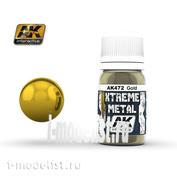 AK472 AK Interactive XTREME METAL GOLD (metallic gold)