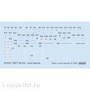 D72027 Eduard 1/72 Decal for Mi-24B technical inscriptions in Czech