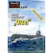 MM 2-3/1997 Maly Modelarz Бумажная модель подводной лодки ORP Orzel