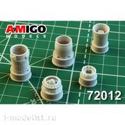 AMG72012 Amigo Models 1/72 MiGG-21F/MiGG-21F-13 Jet Nozzle engine R11F-300