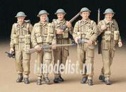 35223 Tamiya 1/35 Английская пехота (5 фигур) в P37 форме с оружием - Bren Mk.II, Sten Mk.II, Lee Enfield №4 Mk.I в дозоре