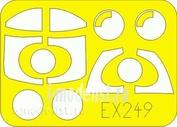 EX249 Eduard 1/48 Маска для J-35 Draken