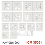 M35 009 KAV models 1/35 Stencil numbers on the body 4310 (ICM 35001)