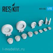 RS72-0254 RESKIT 1/72 Смоляные колёса для M&G-23 (UB/S/MS/MF/M)