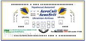 pas033 PasDecals 1/144 Декали B737-400 AeroSvit Ur-vvl