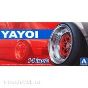 05256 Aoshima 1/24 Комплект колёс Yayoi 14 inch