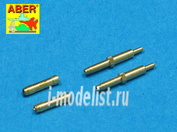 A48 010 Aber 1/48 Set of 2 barrels for German aircraft 30mm machine cannons Mk 108 with blast tube