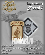 MM35045 Magic Models 1/35 Декаль US Army Badges & Insignia. Modern. Part 2