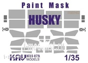 M35 078 KAV models 1/35 Paint mask for the model of Husky TSV production Meng.