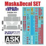 P35 005 KAV models 1/35 Set of masks and decals for U-4320