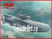 """S.007 ICM 1/72  Тип XXVIIB """"Seehund"""" (поздняя) Германская сверхмалая подводная лодка IIМВ"""