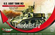 726073 Mirage Hobby 1/72 U.S. Light Tank M3