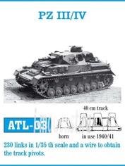 Atl-35-03 Friulmodel 1/35 Friulmodel 1/35 Траки сборные (железные) Pz III/IV (1940-41)