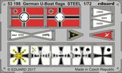 53198 Eduard 1/72 Фототравление для Немецкие стальные флаги для U-boat