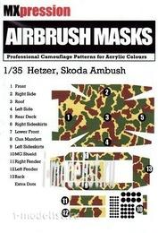 MX35001 MXpression 1/35 Камуфляжная маска Hetzer Skoda Ambush, Airbrush Mask