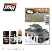 AMIG7413 Ammo Mig Набор для тонировки US GREEN VEHICLES SET (Американская бронетехника)