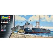 05169 Revell 1/144 Десантный корабль US Navy Landing Ship средний (Бофорс, зентиное орудие 40 мм)