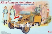 6336 Dragon 1/35 Kubelwagen Ambulance w/ german medical team
