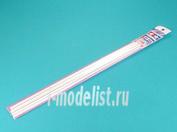 70118 Tamiya Пластиковые стержни (треугольные белые матовые) сторона 5мм, длиной 40см (5 шт)