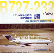 55162 Dragon 1/400 B727-232 Continental Airlines (Собранная и покрашенная модель, железо)
