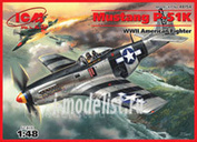 1/48 ICM 48154 Mustang P-51 K American fighter of the Second World war