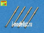 A48 014 Aber 1/48 Set of 4 barrels for Japanese 20 mm Type 99 aircraft machine cannons