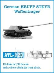 Atl-35-123 Friulmodel 1/35 Траки сборные железные для German Krupp Steyr Waffentrager