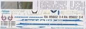 Т5В-006 Ascensio 1/144 Декаль на самолет тушка-154Б-2 (Оребурские Авалинии ОренА)