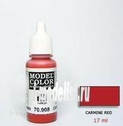 70908 Краска акриловая `Model Color Кармин красный/Carmine red