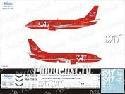 735-015 Ascensio 1/144 Декаль для boein 737-500 (SAT — Сахалинские Авиатрассы)