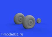 632143 Eduard 1/32 Набор дополнений к модели P-40N колёса
