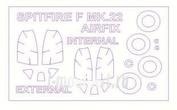 72570-1 KV Models 1/72 Набор окрасочных масок для Spitfire Mk.22 (двусторонние маски) + маски на диски и колеса