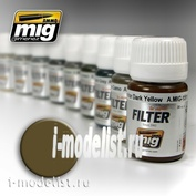 AMIG1504 Ammo Mig Filter Brown for desert yellow (BROWN FOR DESERT YELLOW)