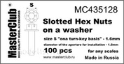 Mc435128 MasterClub Castellated nut and washer, the size of the key - 1.6 mm