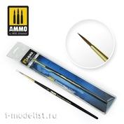 AMIG8603 Ammo Mig 2 Round Brushes Premium
