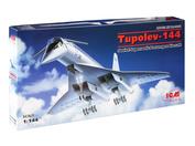 14401 ICM 1/144 Советский сверхзвуковой пассажирский самолет Tupolev-144
