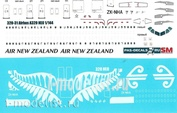 320-31 PasDecals 1/144 Decal using white printing on the Airbus A320 NEO Air New Zealand