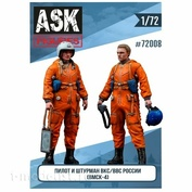 ASK72008 All Scale Kits (ASK) 1/72 Set of Pilot and navigator of the Air Force/VKS of Russia in VMSK
