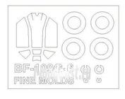 72572 KV Models 1/72 Набор окрасочных масок для Bf-109 G-6 + маски на диски и колеса