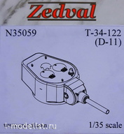 N35059 Zedval 1/35 part Set for conversion of T-34/76 to T-34-122