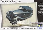 35100 MasterBox 1/35 German military car, Typ 170 V, Tourenwagen, 4 Türen, 1937-1940