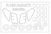 72590 KV Models 1/72 Набор окрасочных масок для Piaggio P.180 Avanti + маски на диски и колеса