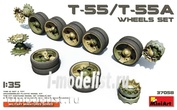37058 MiniArt 1/35 Set of Rollers for T-55/T-55A tanks