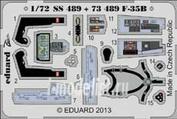 SS489 Eduard 1/72 Цветное фототравление для F-35B interior S.A.