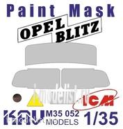 M35 052 KAV models 1/35 Окрасочная маска на остекление Opel Blitz (ICM)