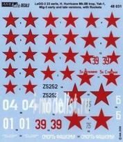 AMLD 48 031 AML 1/48 Декаль и фототравление Red Devils with Rockets,Part III -H.Hurr., LaGG-3, Yak-1, MiG-3
