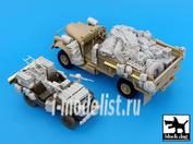 T35016 Black dog 1/35 British SAS Jeep -Chevrolet Africa for Tamiya\Italeri