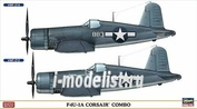 02032 Hasegawa 1/72 Vought F4U-1A CORSAIR COMBO (two models in box)