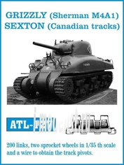 Atl-35-127 Friulmodel 1/35 Grizzly (Sherman M4A1), Sexton (Canadian tracks)