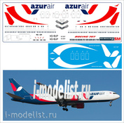 767300-05 PasDecals 1/144 Scales Decal for Boeing 767-300 AIR AZUR